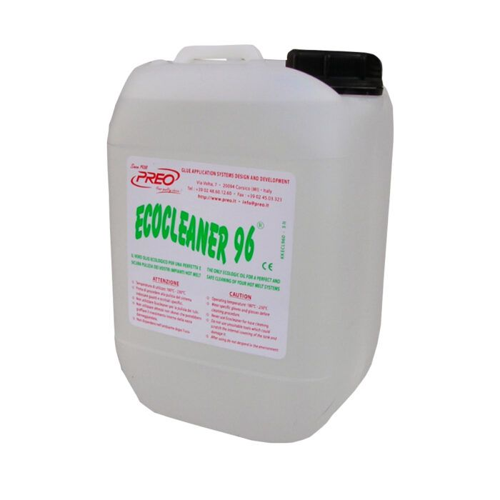 Ecocleaner Liquido per pulizia vasca incollaggio a caldo Preo